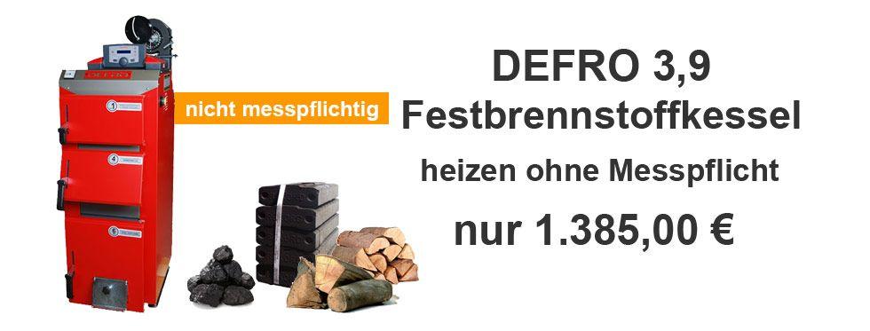 Defro Optima Komfort Plus 3.9 Feststoffkessel