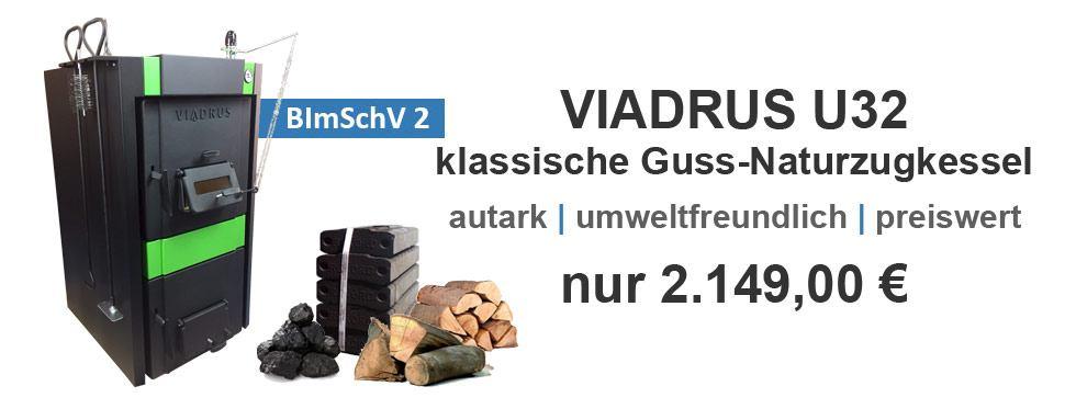 Viadrus U32 Gusskessel und Festbrennstoffkessel